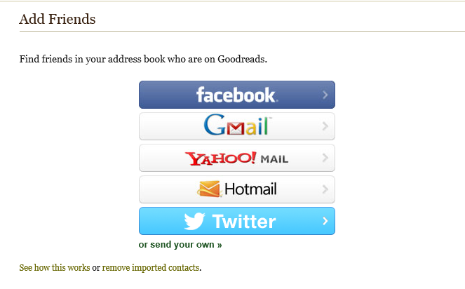 Add Friends to Goodreads