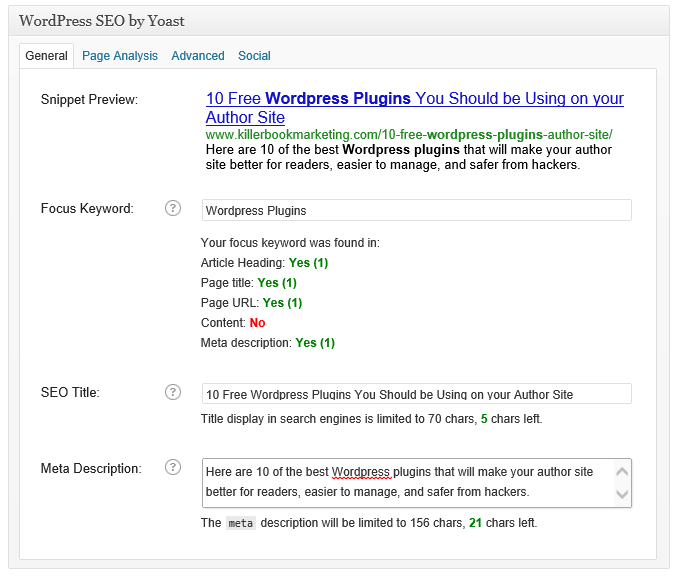 Wordpress SEO by YOUST